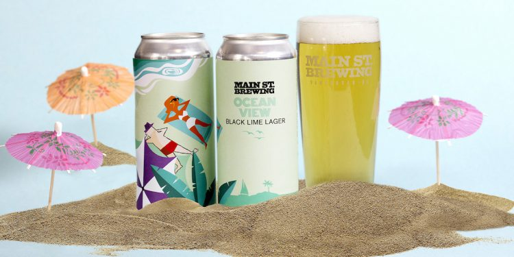 Main Street Brewing Ocean View Black Lime Lager Beer