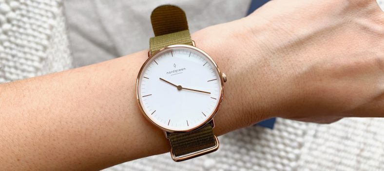 nordgreen native watch with olive strap