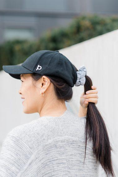 Ponyback hat in black