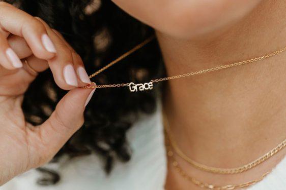 Tiny Zen Memory Name Necklace