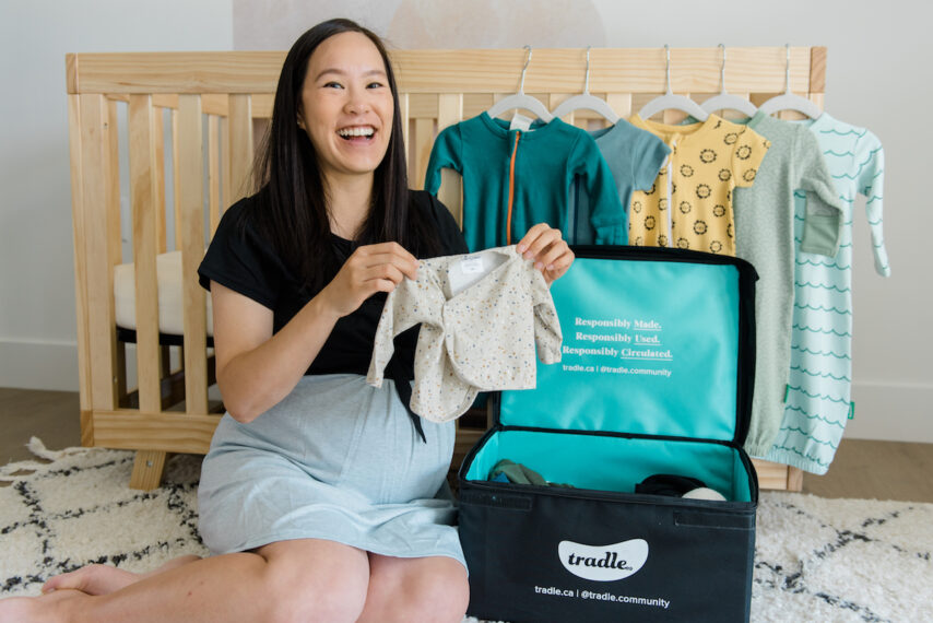 Unboxing Baby Clothing Delivery from Tradle