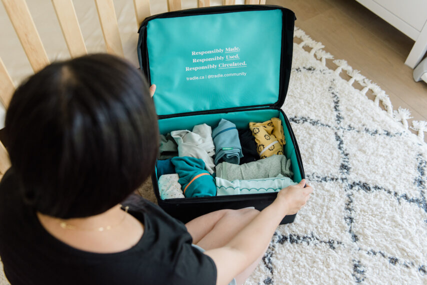 Unboxing Delivery from Tradle Baby Clothing Subscription Company