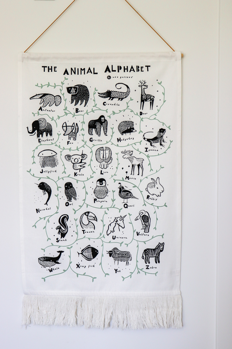 Crate & Barrel Animal Alphabet Banner by Wee Gallery
