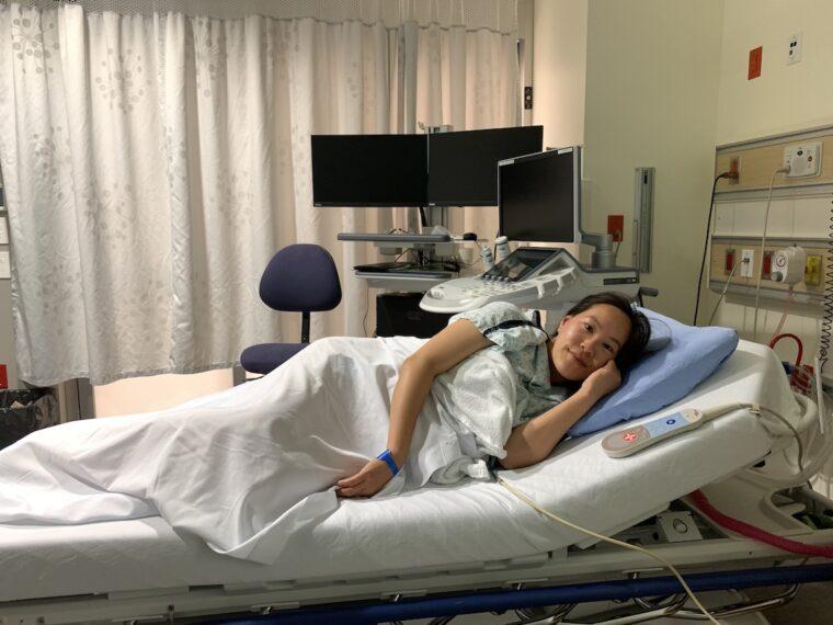 BC Women's Hospital Bed ECV Procedure for Breech Baby