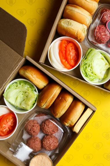 Burgerland Smash Up DIY Burger Kit