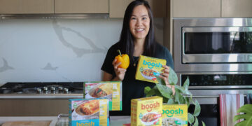 six flavours of boosh plant-based brand of frozen food