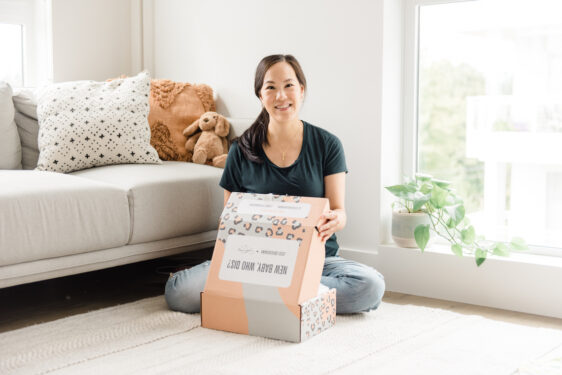 Unboxing the Sweet Peas Baby Box Jessi Cruickshank