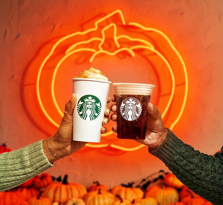 starbucks pumpkin spice latte and cold brew 2021