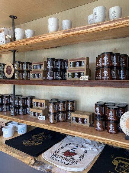 Jams and spreads at Salt Spring Kitchen Co Shop on Salt Spring Island