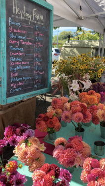 Flowers at Salt Spring Island Market