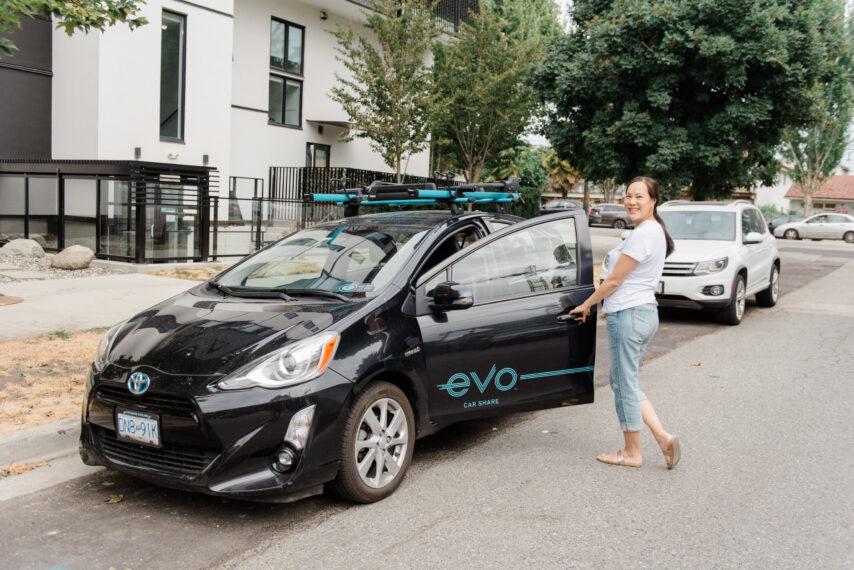 Evo Car Sharing Black Toyota Prius Vancouver