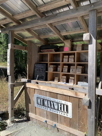 mt Maxwell coffee stand on salt spring island